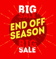 end off season big sale with vintage handdr vector image vector image