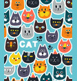 endless wallpaper with cats stickers on blue sky vector image vector image