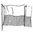 flag of lubeck 1881 vintage vector image vector image