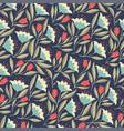 folk flowers vintage seamless pattern vector image vector image