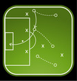 Football tactics board vector image