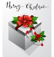 Gift box with bow Christmas Card vector image vector image
