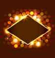 gold shiny vintage border on bright background vector image vector image