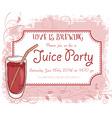 hand drawn juice party invitation card vintage vector image vector image
