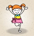 happy girl isolated vector image vector image