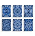 Happy new year cards flourish mandala design