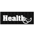 health earphone black background image vector image