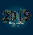 holiday new year card 2019 vector image vector image
