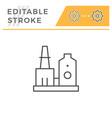 industrial plant line icon vector image vector image