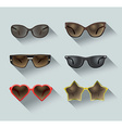 ladies sunglasses vector image vector image