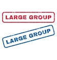 Large Group Rubber Stamps vector image vector image