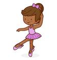 little african american ballet dancer girl vector image vector image