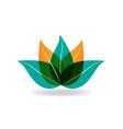 lotus plant icon vector image vector image