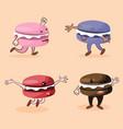 makaroon characters vector image
