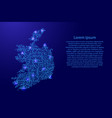 map ireland from printed board chip and radio vector image vector image