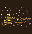 merry christmas my friend a stylish christmas vector image vector image