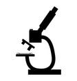 microscope the black color icon vector image vector image