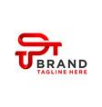 monogram logo design letter tp vector image vector image