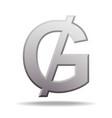paraguayan guarani currency symbol vector image vector image