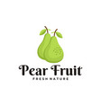 pear fruit logo vector image vector image