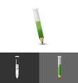 Pencil Test tube Icon Symbol Logo vector image vector image