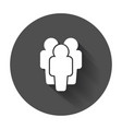 people icon flat people with long shadow vector image vector image