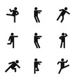 physical activity icons set simple style vector image