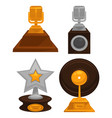 prestigious honorable gold and silver music awards vector image vector image