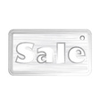 price tag with the word sale in the style of a vector image vector image