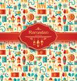 Ramadan Kareem icons set of Arabian vector image vector image