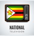 round glossy icon of zimbabwe vector image vector image