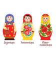 russian matryoshka styles collection vector image