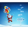 Santa Claus in a hurry to sell and discounts vector image vector image