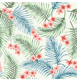 Seamless exotic pattern with tropical leaves vector image vector image