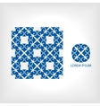 seamless pattern of blue and geometric vector image vector image