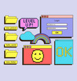 set of icons for user interface