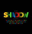 shadow style font design vector image