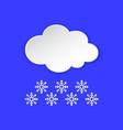 snowflake winter weather info icon snow flake vector image