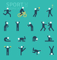 Sports and health People flat icons People play vector image vector image