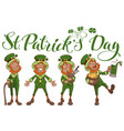 st patricks day lettering text set fun cartoon vector image vector image