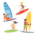 summer water beach extreme sports windsurfing vector image vector image