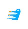 tag delivery icon logo design element vector image