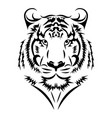 tiger logo black white a tiger vector image