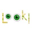 Cartoon green eyes vector image