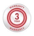 3 years warranty vector image