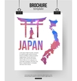 Japan travel background Brochure with Japan map vector image