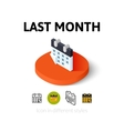 Last month icon in different style vector image