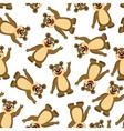 Seamless Funny Cartoon Bear vector image