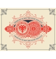 Vintage card design with floral details vector image