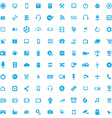 100 technology icons vector image vector image
